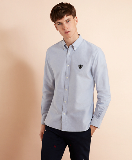 Oxford Elbow Patch Sport Shirt