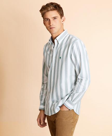 Broad Striped Cotton Oxford Shirt