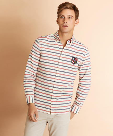 Striped Dobby Patch Shirt