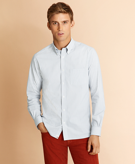 Performance Series Striped Poplin Shirt