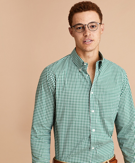 Performance Series Gingham Poplin Shirt