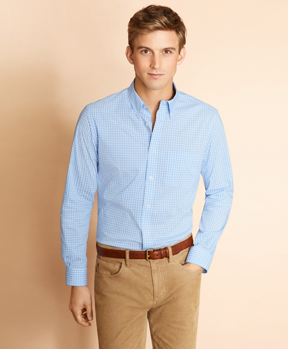 Performance Series Gingham Poplin Shirt Vista Blue