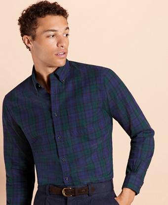 Multi-Plaid Flannel Shirt