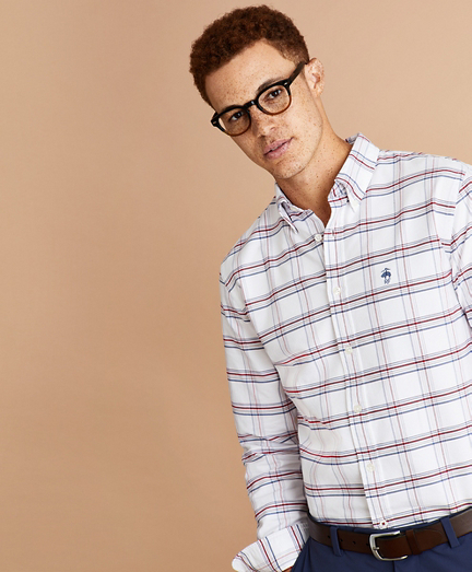 Plaid Oxford Shirt