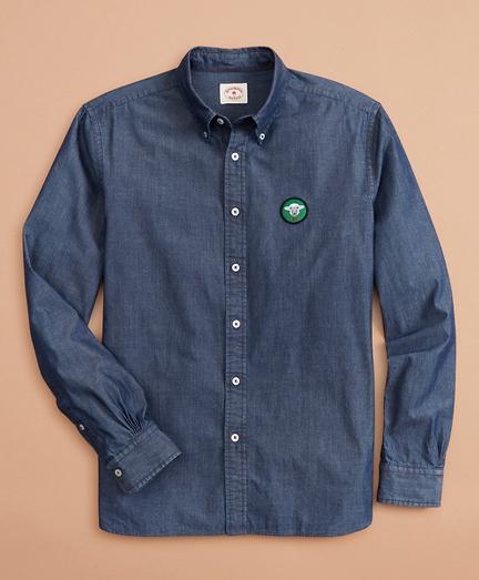 Indigo Chambray Patch Shirt