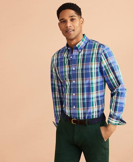 Plaid Cotton Broadcloth Shirt