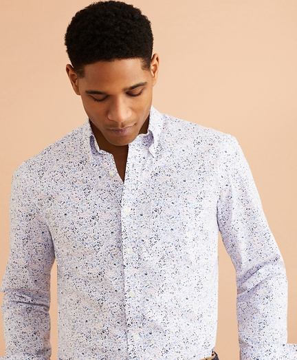 Performance Series Flower Print Poplin Shirt