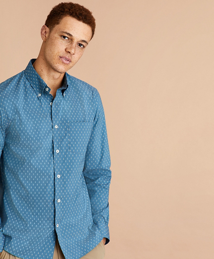 Performance Series Cactus Print Poplin Shirt