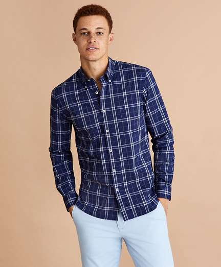 Performance Series Plaid Poplin Shirt