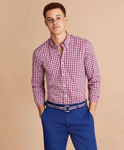 Performance Series Mini-Check Poplin Shirt