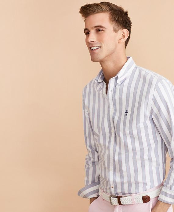 Multi-Stripe Oxford Shirt Blue