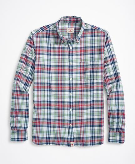Multi-Plaid Madras Shirt