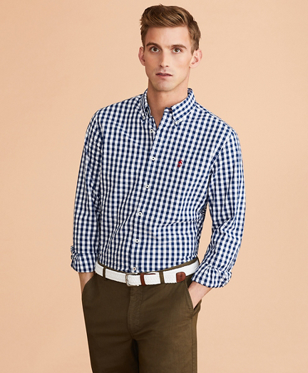 Gingham Seersucker Shirt