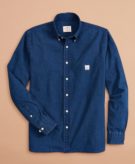 Limited-Edition Red Fleece Chambray Shirt