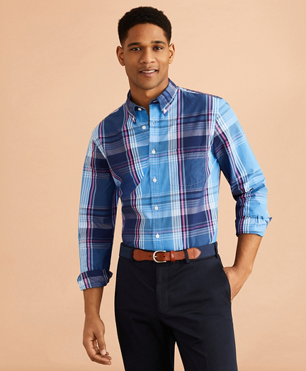 Plaid Cotton Broadcloth Shirt