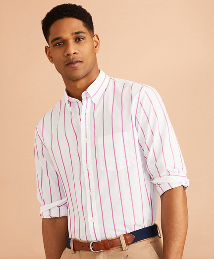 Striped Cotton Broadcloth Shirt