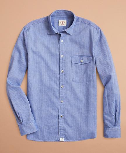Brooksbrothers Brushed Herringbone Striped Cotton Shirt