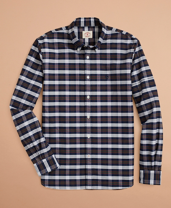 Plaid Oxford Shirt Navy-Multi