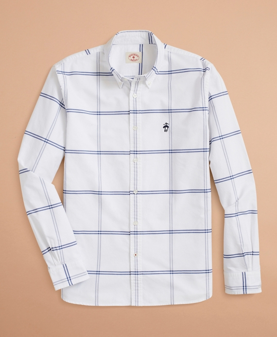 Windowpane Oxford Shirt