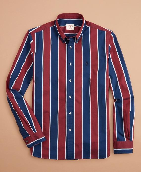 Bold Stripe Cotton Dobby Shirt
