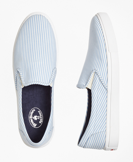 Seersucker Slip-On Sneakers