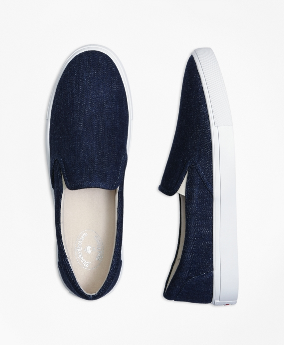 Denim Slip-On Sneakers Navy