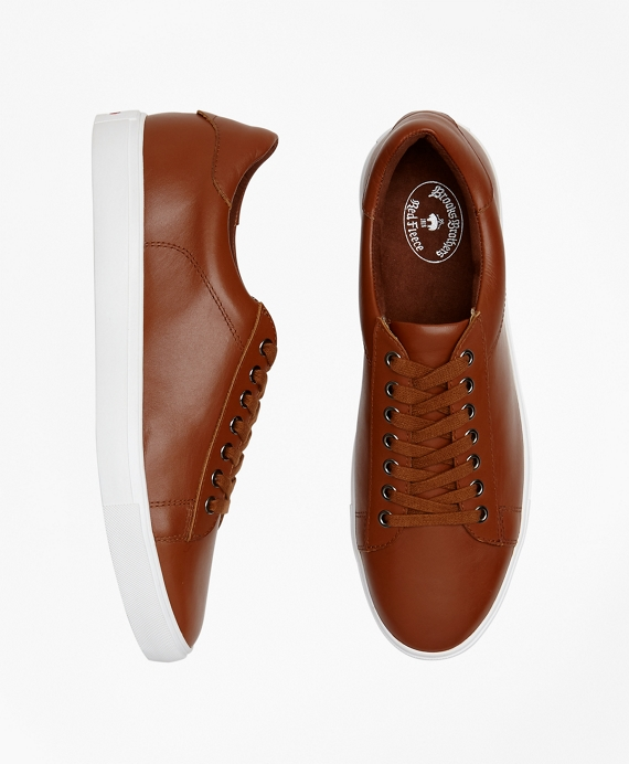 Leather Sneakers Cognac