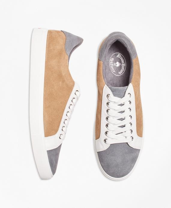 Color-Block Suede Sneakers
