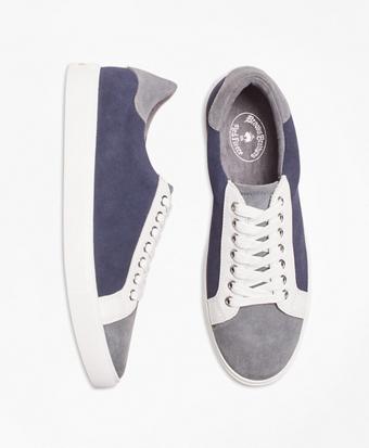 0efd93db908 Color-Block Suede Sneakers