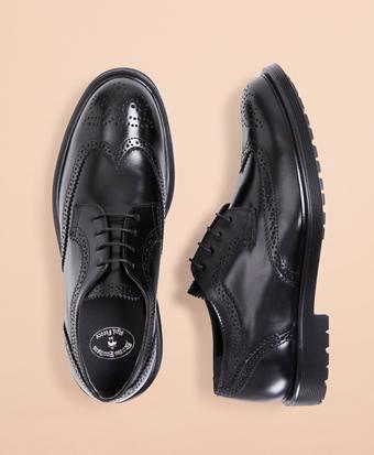 Leather Brogue Dress Shoes