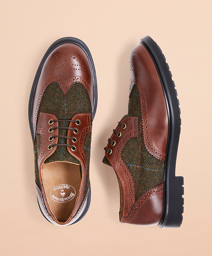 Two-Tone Brogue Dress Shoes