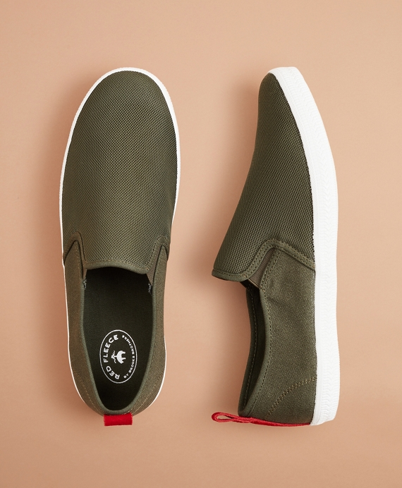 Canvas Slip-On Sneakers Olive