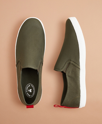 Canvas Slip-On Sneakers