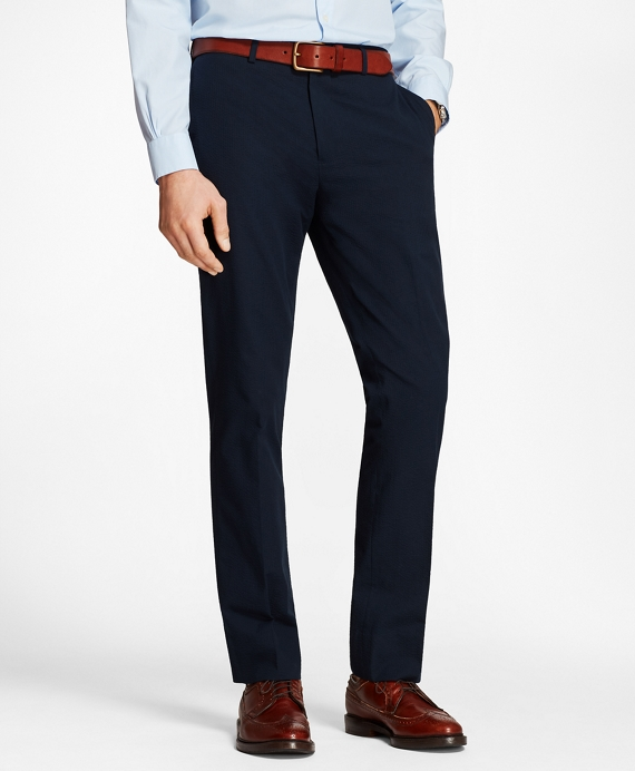 Seersucker Dress Trousers Navy