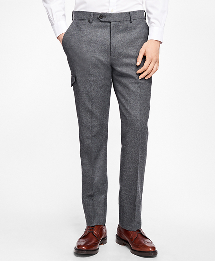 Stretch-Wool Flannel Dress Trousers