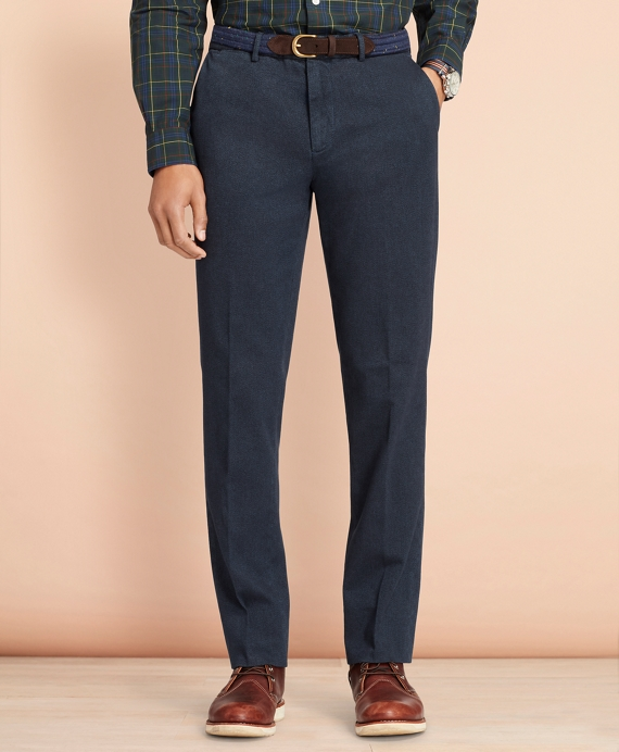 Stretch-Cotton Twill Trousers Blue