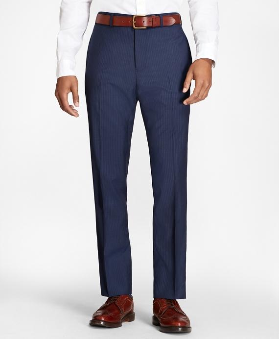 Pinstripe Wool Suit Trousers Blue