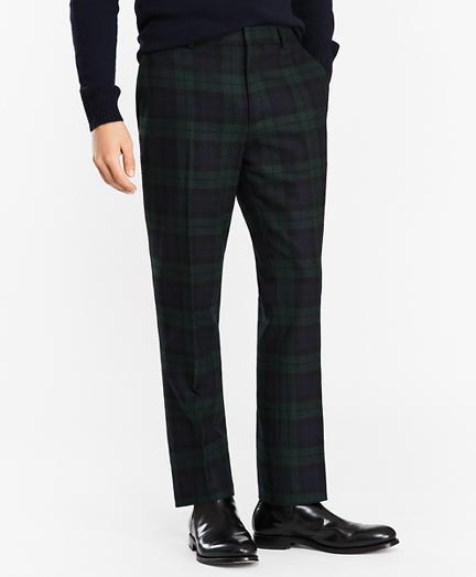 Donegal Lambswool Black Watch Tartan Trousers
