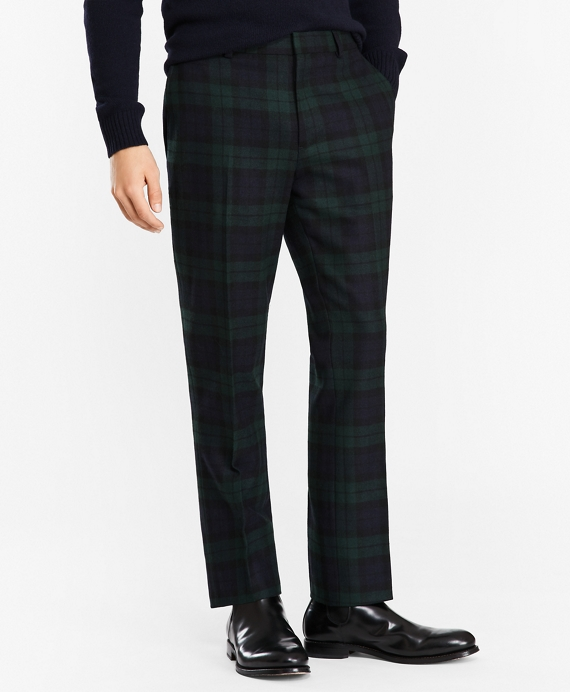 how to serch good selling super popular Donegal Lambswool Black Watch Tartan Trousers - Brooks Brothers