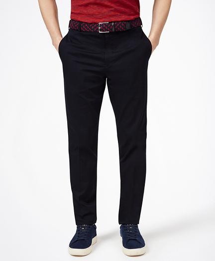 Cotton Stretch Herringbone Trousers