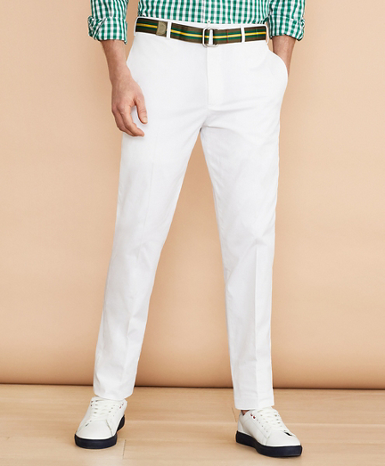 Cotton Stretch Herringbone Trousers