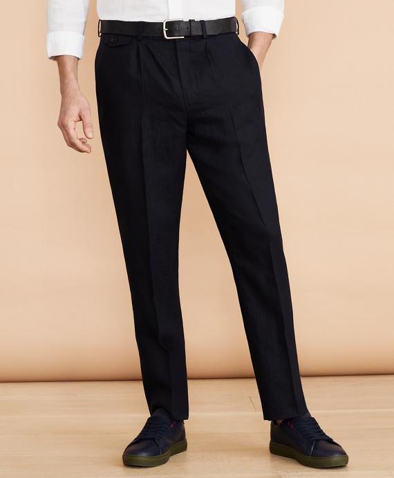 Linen Trousers Navy