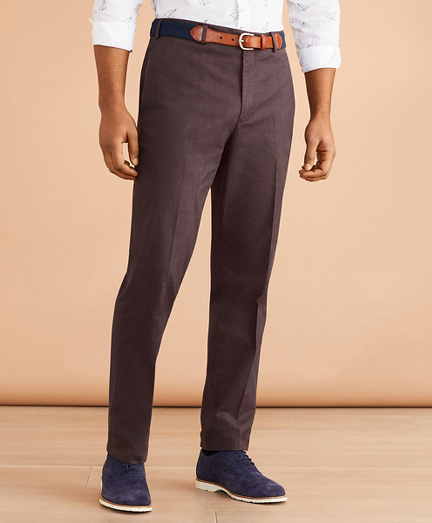 Cotton Dobby Suit Trousers