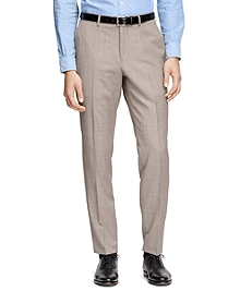 Tan Tic Suit Trousers