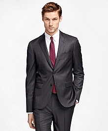 Alternating Stripe Suit Jacket