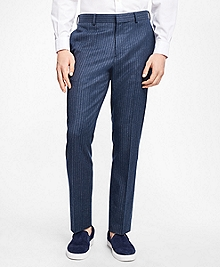 Slim-Fit Chalk-Stripe Stretch-Wool Suit Trousers