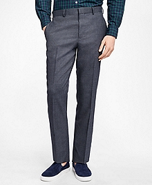 Slim-Fit Mini-Check Stretch-Wool Suit Trousers