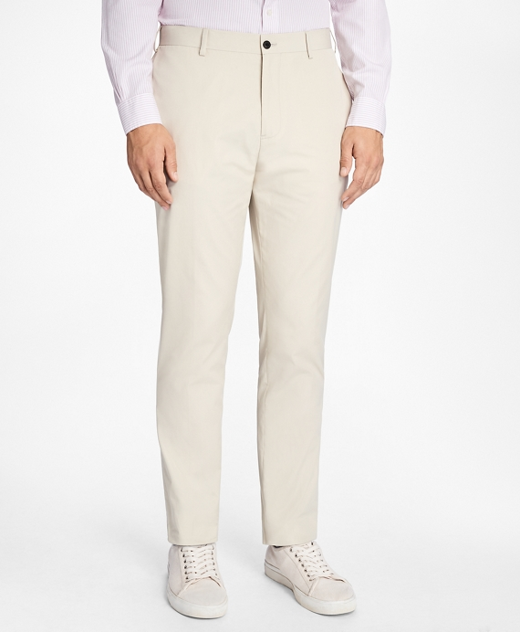 Slim-Fit Cotton Suit Trousers Stone