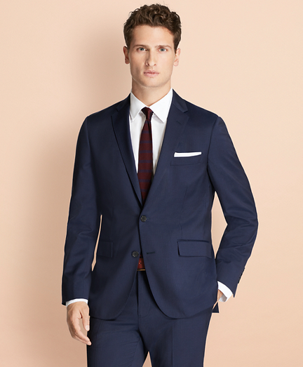 Alternating Pinstripe Wool Suit Jacket