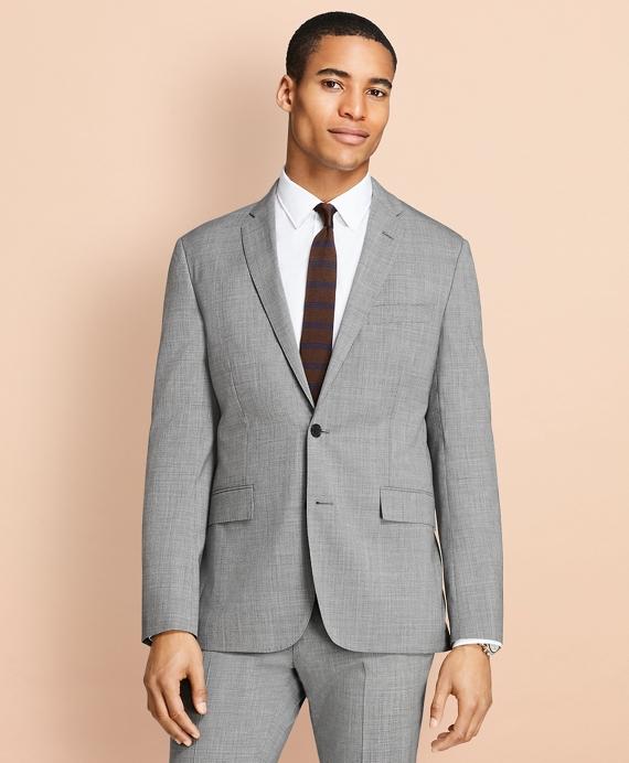 Tick-Weave Wool Suit Jacket Grey